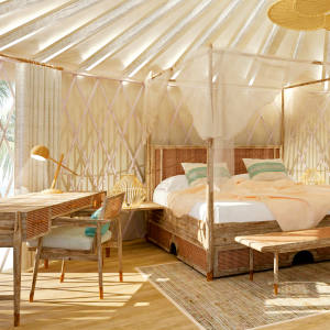 26 suites, villas and yurts make up the accommodation at Awei Pila in Myanmar