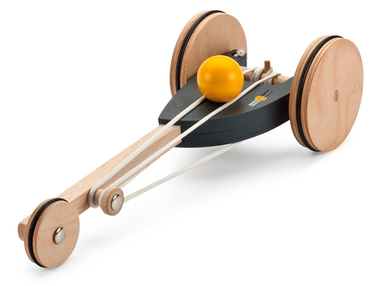 Naseweiss rubber-band-driven racing car, £39 from Manufactum