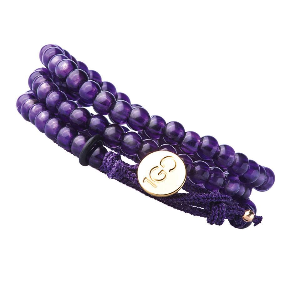 Gemfields amethyst bracelet, $475; all proceeds go to the Abataka Foundation. www.100gooddeeds.org/gemfields