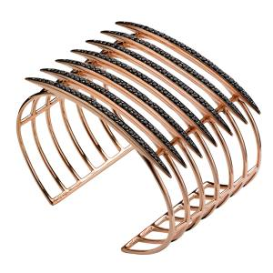 Shaun Leane Quill cuff in rose gold vermeil with black spinels, £1,250. Also in other materials