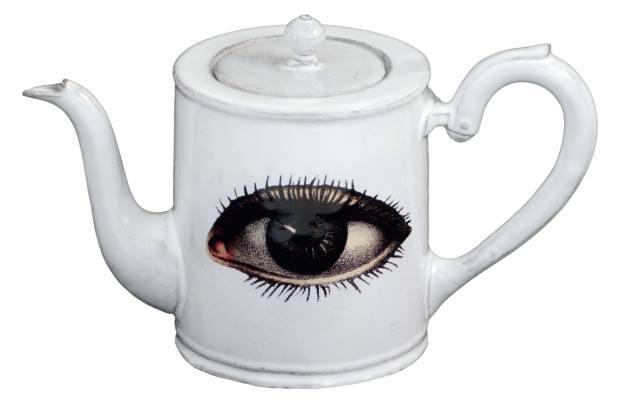 John Derian x Astier de Villatte handmade terracotta Eye teapot, $344