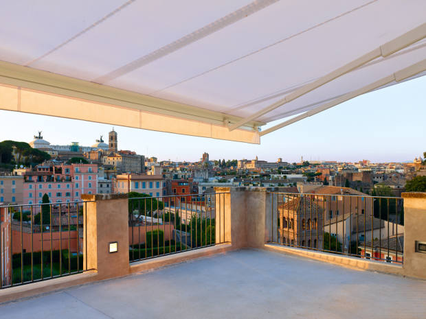The palazzo's bi-level rooftop bar and restaurant will have singular views of Rome