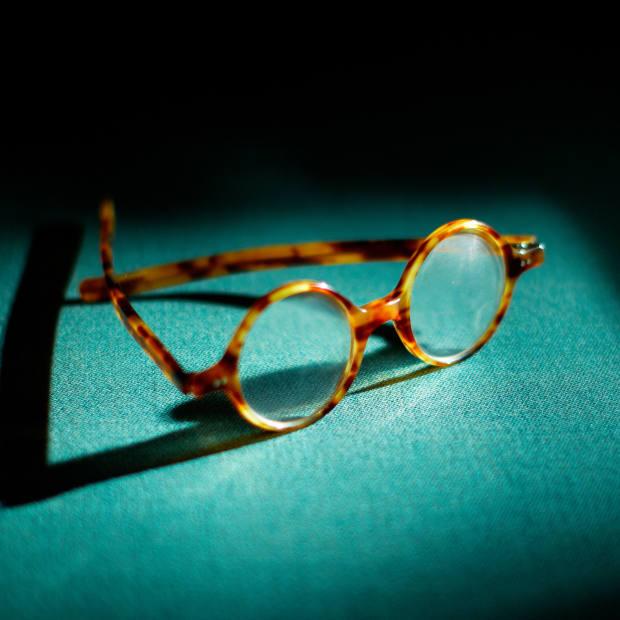 Garcia's EB Meyrowitz tortoiseshell glasses