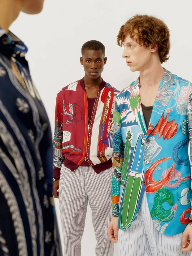 Hermès men's spring/summer 2020 – a palate cleanser of sportif prints and unexpected colours
