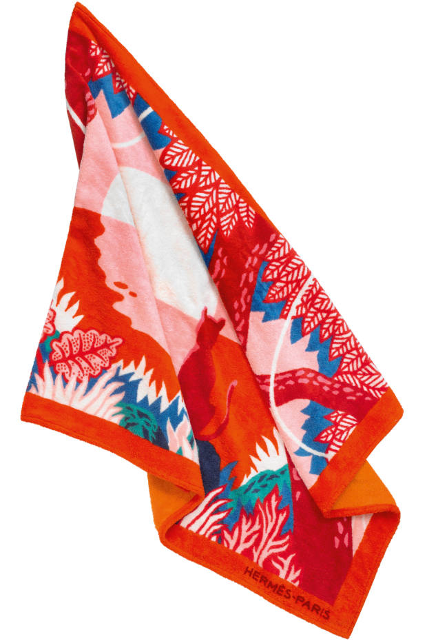 Hermès Meditation cotton beach towel