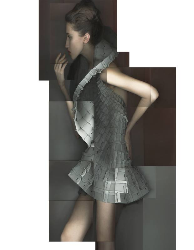 Matija Cop laser-cut ethylene vinyl acetate foam interlocked dress, £3,000