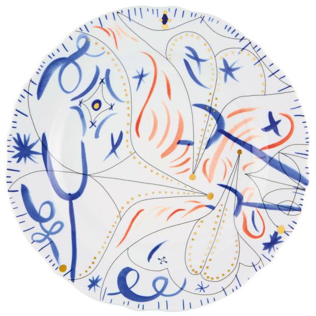 Jaime Hayon for Vista Alegre porcelain Folkifunki dinner plate, €105