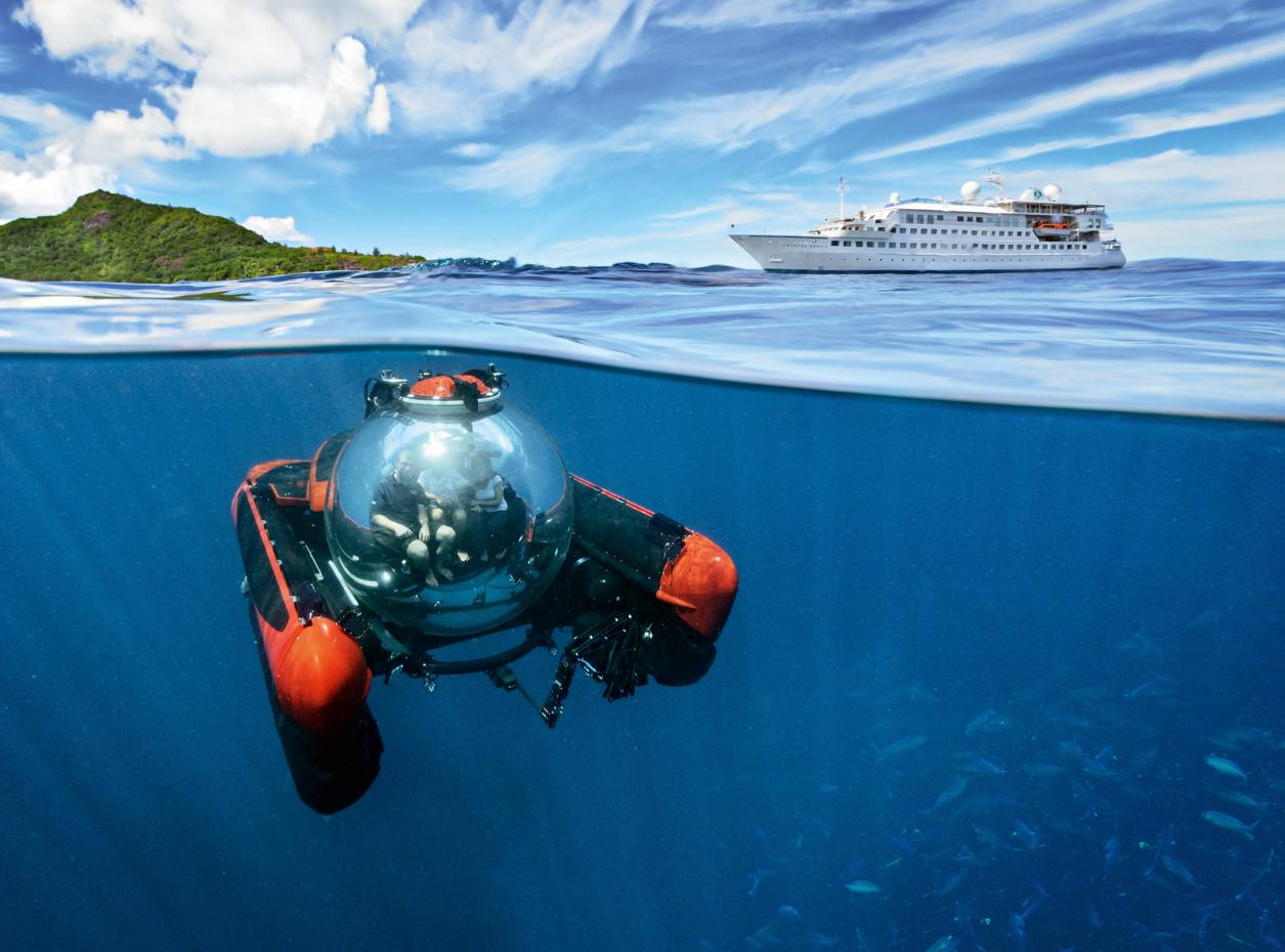 Crystal Cruises' Crystal Esprit and its onboard submersible