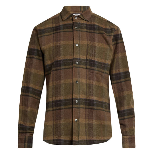Inis Meáin wool-mix flannel shirt, £200