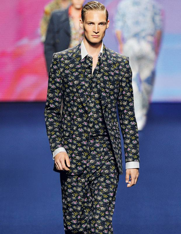 Etro cotton jacket, £795, and matching trousers, £355