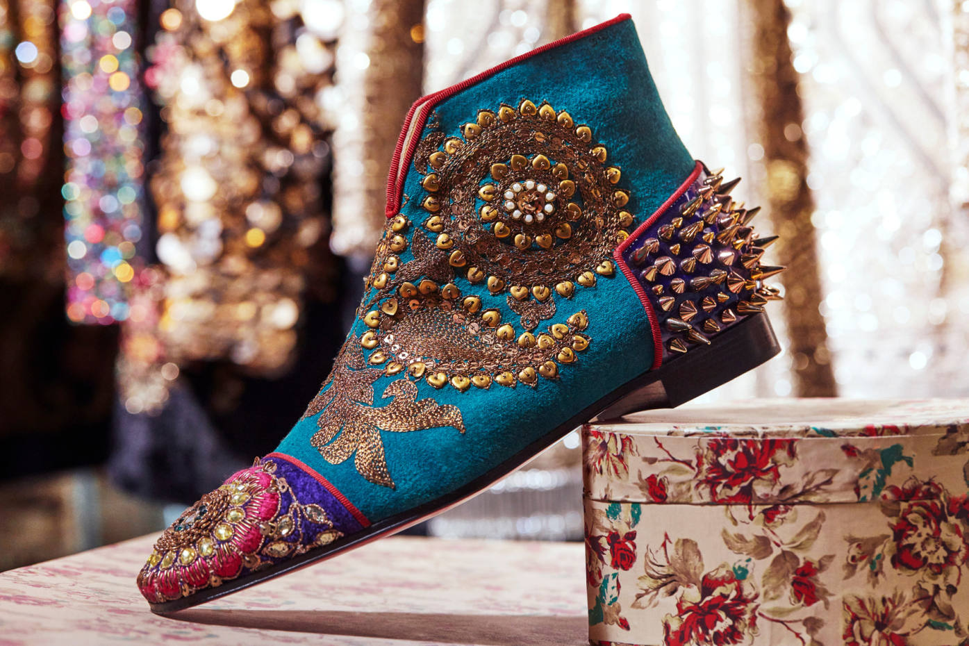 5b157b3cd146 Christian Louboutin s Indian couture collaboration