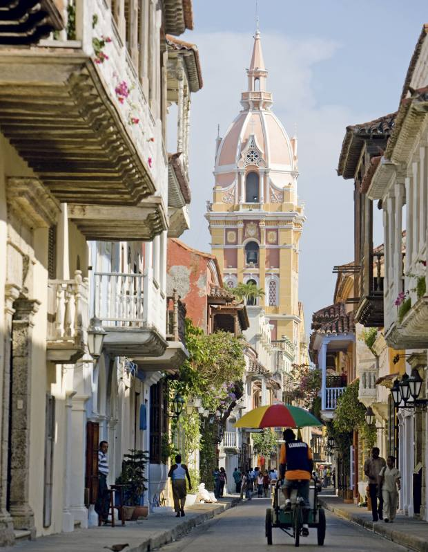 The cathedral in Cartagena, Colombia