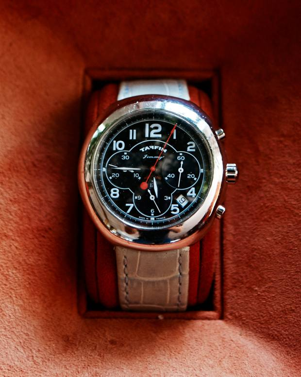 His Taffin watch, from $8,000