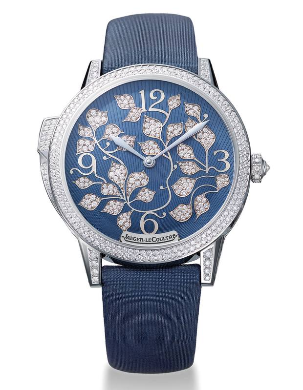 Jaeger-LeCoultre white gold and diamond Rendez-Vous Ivy Minute Repeater watch on satin strap, £203,000
