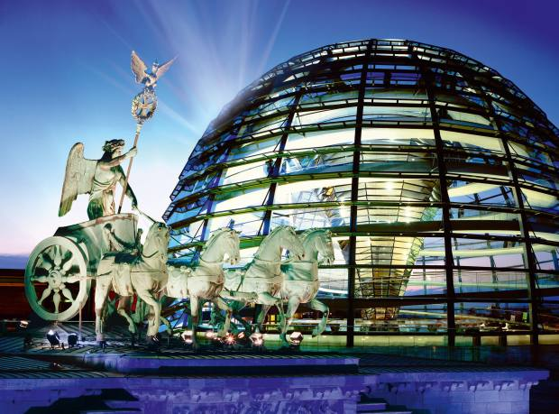 Norman Foster's dome on the Reichstag, Berlin