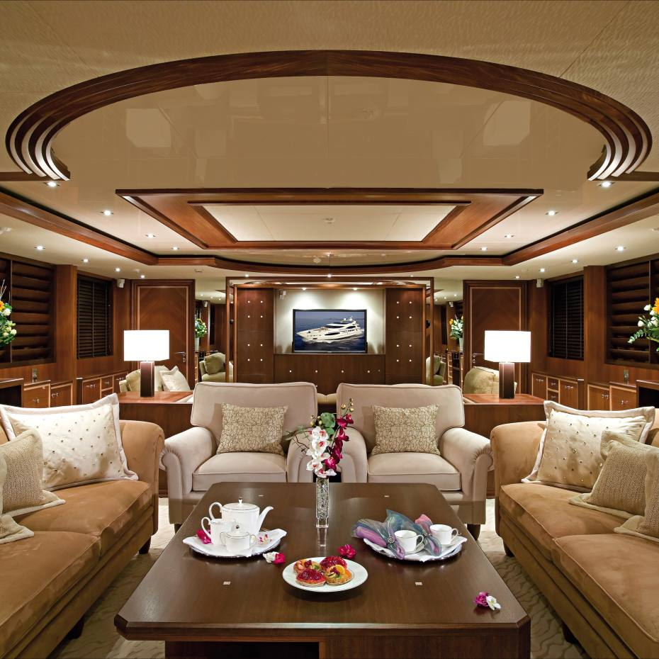 The lounge on board the Princess Iolanthe