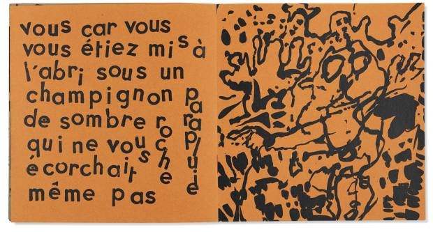 Jean Debuffet and Pierre André Benoît's Oreilles Gardées, 1962, sold at Christie's for €1,500