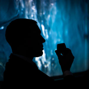 At The Berkeley hotel's Out of the Blue experience, guests are served specially selected cocktails in an immersive, 360-degree projection setting