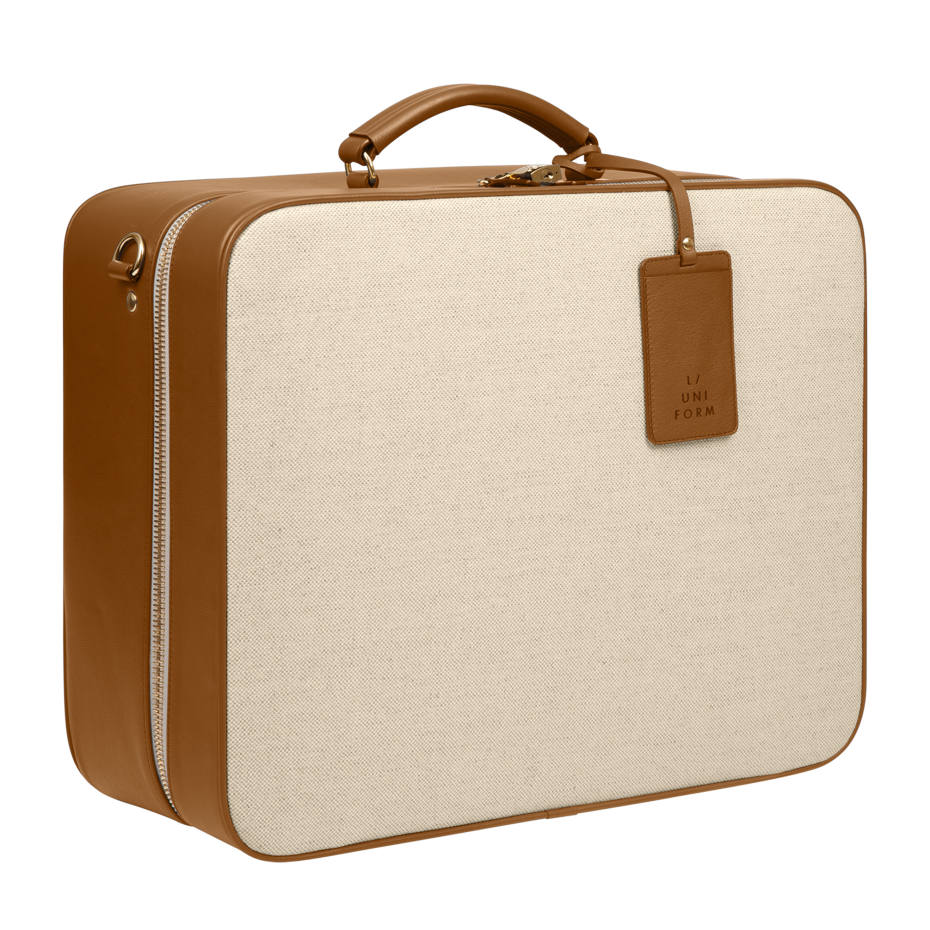 Canvas and vealskin carry-on, from €1,150