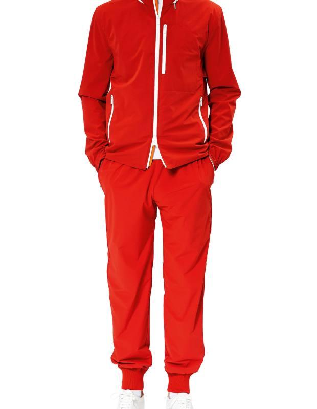 Hermès Toilovent jacket, £2,065, and jogging pants, £1,050