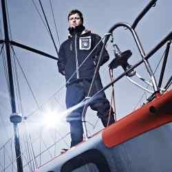Alex Thomson on his Imoca 60 class yacht, Hugo Boss