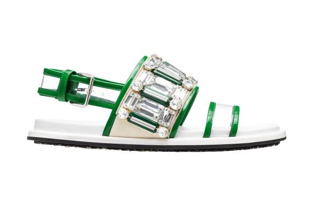 Marni leather and Perspex Fussbett sandals, £530