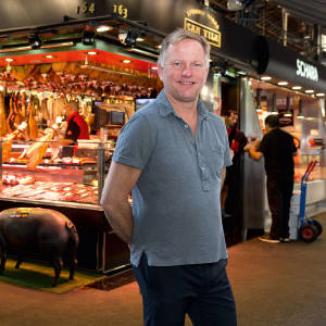 Nick Jones at Barcelona's covered food market, La Boqueria, just off La Rambla