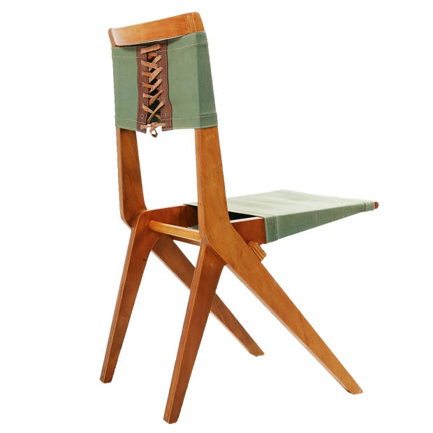 Marine plywood, fabric and leather MASP chair by Lina Bo Bardi, about £18,000