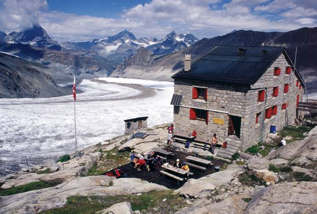 Rosablanche in the Swiss Pennine Alps