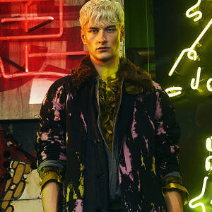 Dries Van Noten cotton-mix coat, £1,067, cotton jacket with shearling collar, £682, cotton shirt, £230, and cotton trousers, £603. Dolce & Gabbana leather shoes, about £730