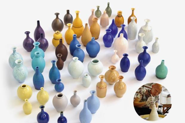 Yuta Segawa's miniature porcelain and stoneware pots, from £40
