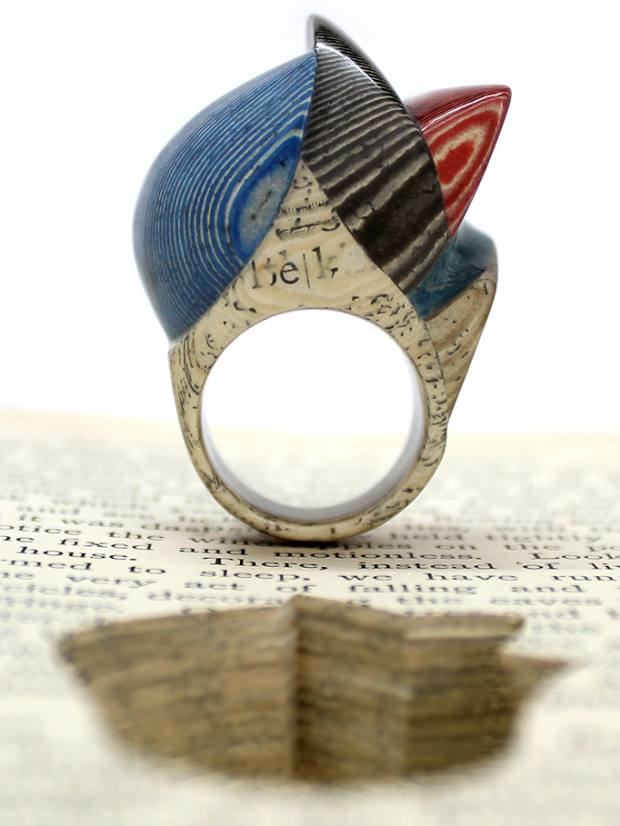 A ring created by May from a 19th-century book called The Fairy-Land of Science