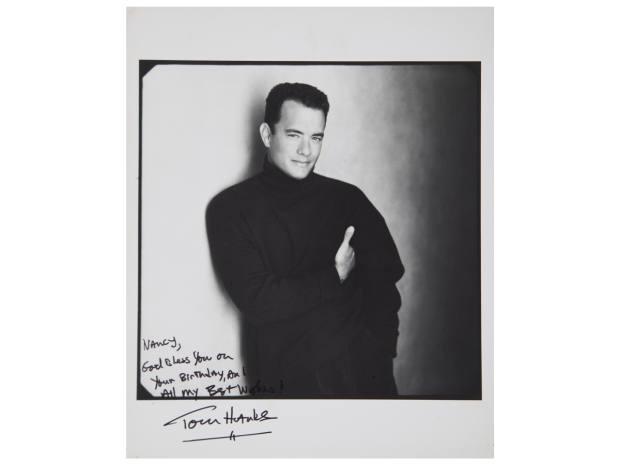 Extraordinary memorabilia includes birthday notes from actors such as Tom Hanks