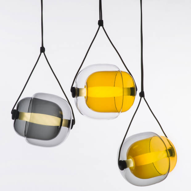 Lucie Koldova for Brokis handblown glass and wood Capsula, £780 each