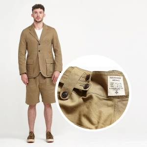 Nigel Cabourn cotton Tibet jacket (£480) and Bloomer short (£285)