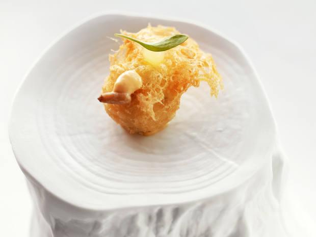 Cod brandade with manzanilla and yuzu mayonnaise