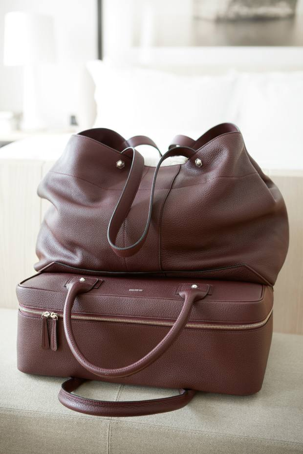 Connolly leather tote bag, £1,100, and holdall, £1,500