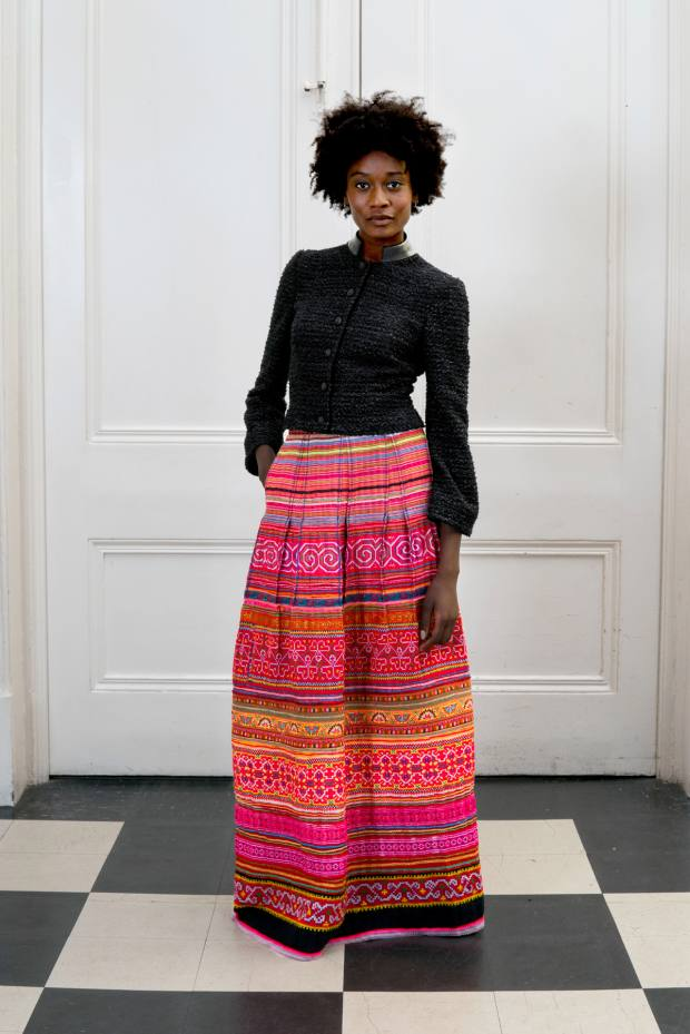 Eponine vintage Hmong fabric skirt, price on request