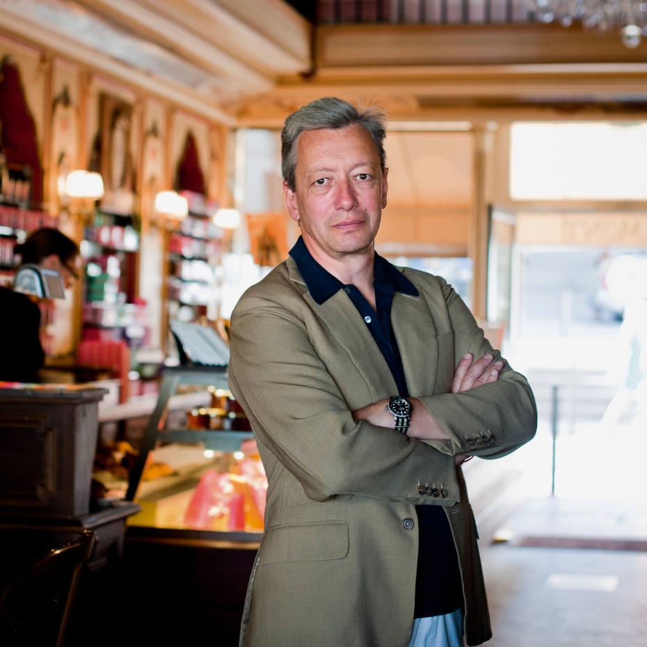 Frédéric Malle at Miremont pâtisserie, Biarritz