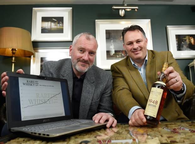 Andy Simpson (left) and David Robertson, the founders of Rare Whisky 101