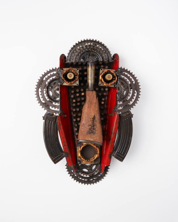 Sculpture in the style of a traditional African mask, £5,000, by Gonçalo Mabunda