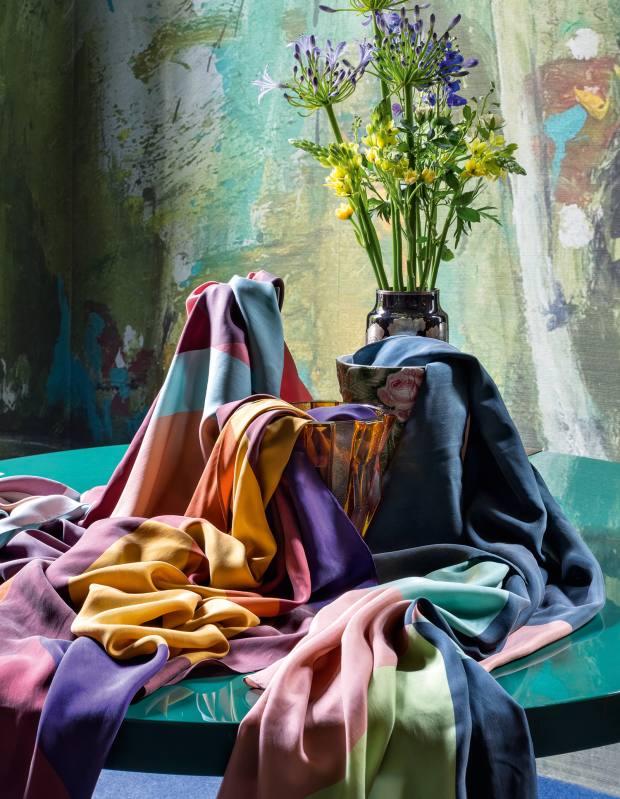 Faliero Sarti for DimoreStudio silk scarves, £340 each