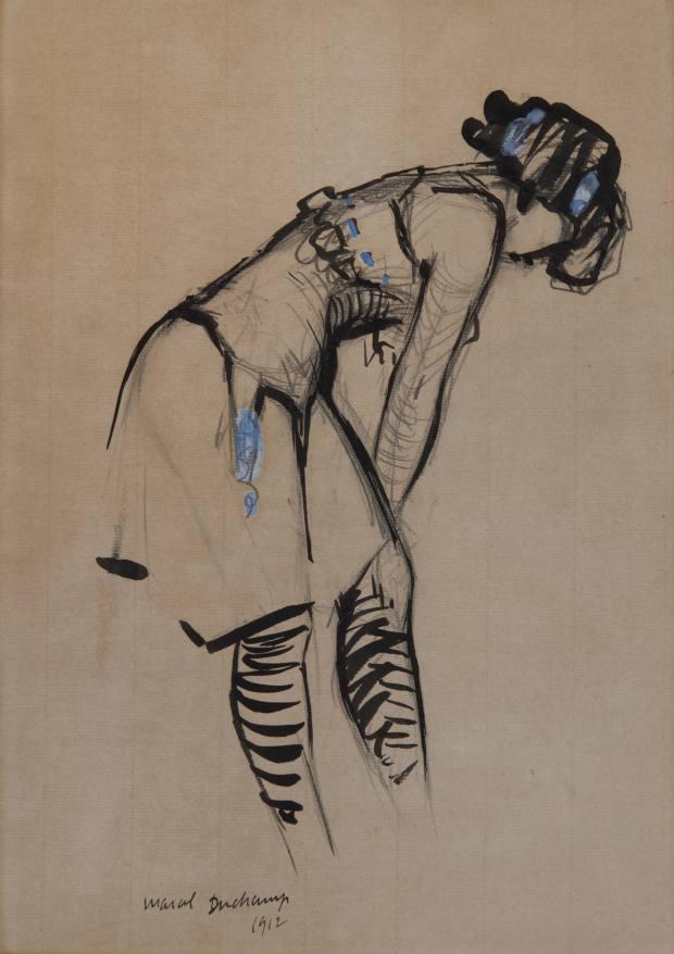 Jeune Femme au Corset à Ruban Bleu by Marcel Duchamp, €150,000
