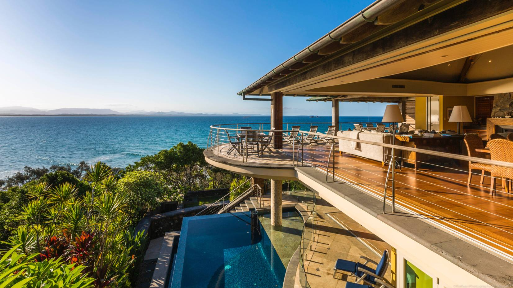 The state-of-the-art, four-bedroom Amangani villa in Australia's Byron Bay, from $2,000 per night