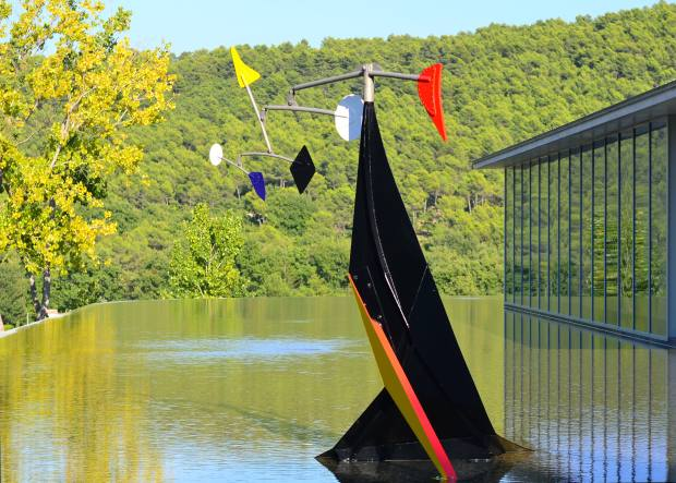 Small Crinkly by Alexander Calder is on display in the grounds