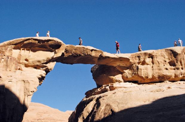 Pelorus took a group on a surprise Middle East adventure that involved abseiling in Wadi Rum