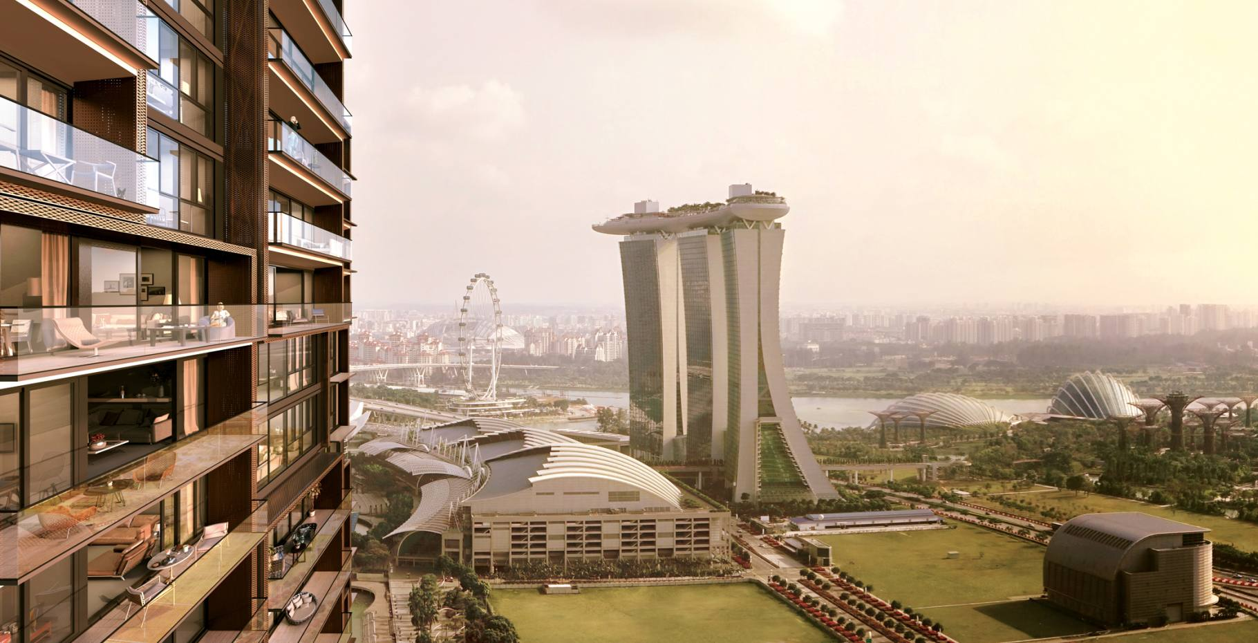 At Marina One in Singapore, a penthouse is on sale for about £11.25m through Knight Frank
