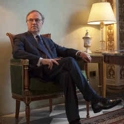 Pierre-Yves Rochon in the chapel of the Four Seasons in Florence.