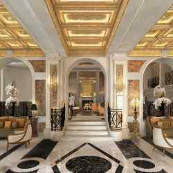The lobby of Rome's iconic Hotel Eden, which is reopening after a 17-month renovation