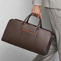Carl Friedrik leather Palissy weekend bag in chocolate brown, £495